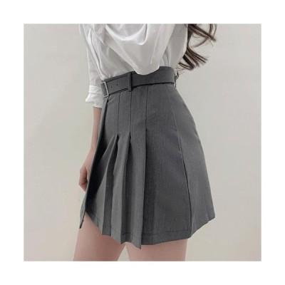 レディース スカート Minimalist Half Pleated Mini Skirt P#YW602