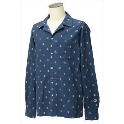 [Champion]チャンピオン 長袖Tシャツ (C3-Q437)(370) ネイビー[取寄商品]