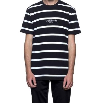 HUF ハフ GOLDEN GATE STRIPES S/S T-SHIRTS ゴールデンゲート ストライプ Tシャツ ボーダー ブラック KN000582SP18
