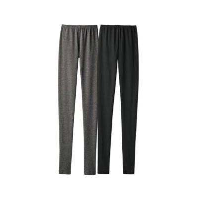 綿混裏起毛15分丈レギンス2枚組(M~L) (レギンス・スパッツ・オーバーパンツ)Leggings