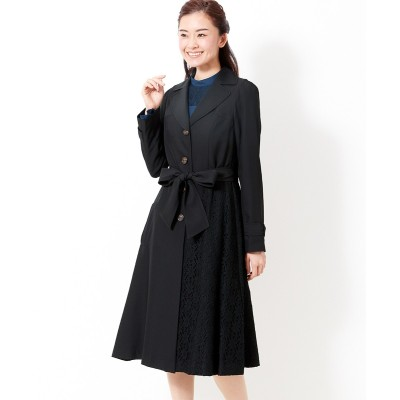 大きいサイズ レース切替フレアスプリングコート(プライベートレーベル) ,スマイルランド, コート, plus size coat