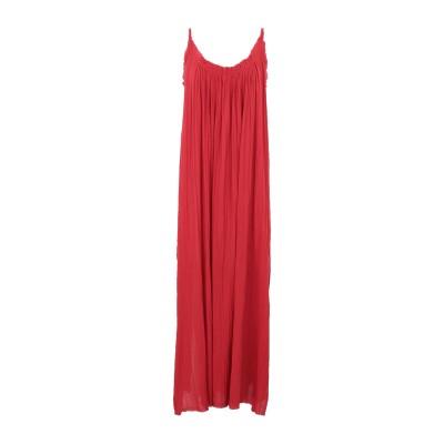 ALLSAINTS ロングワンピース&ドレス レッド M/L コットン 100% ロングワンピース&ドレス