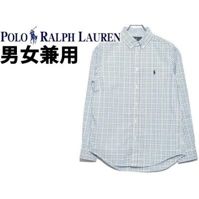 ポロ ラルフローレン メンズ レディース 長袖シャツ 海外BOYSモデル ワンポイント チェックシャツ POLO RALPH LAUREN 21230910