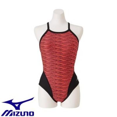 ◆◆送料無料 メール便発送 <ミズノ> MIZUNO 競泳練習用ミディアムカット[レディース] N2MA9775 (60:ファイアリーコーラル) フィット