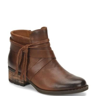 ボーン レディース ブーツ&レインブーツ シューズ Montilla Leather Wraparound Tassel Block Heel Booties Natural