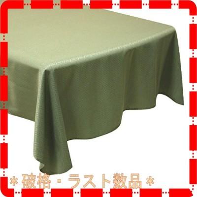 Cleib ヘリンボーン柄 撥水加工 テーブルクロス 約120x170cm グリーン FS006