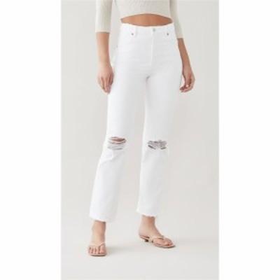 ローラズ Rollas レディース ジーンズ・デニム ボトムス・パンツ Original Straight Jeans Layla White