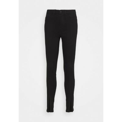 ノイジーメイ デニムパンツ レディース ボトムス Jeans Skinny Fit - black denim