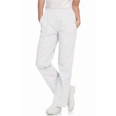 Scrub  ファッション パンツ Landau NEW White Womens Size Large L Classic Relaxed Scrub Bottoms