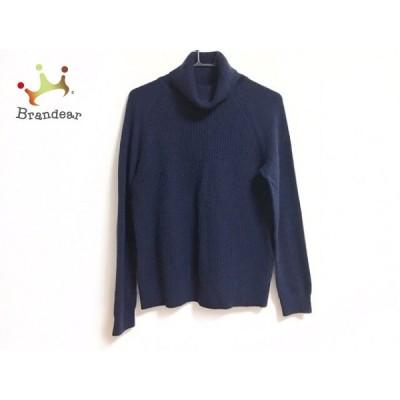 セオリーリュクス 長袖セーター サイズ38 M レディース ネイビー タートルネック/カシミヤ 新着 20210210