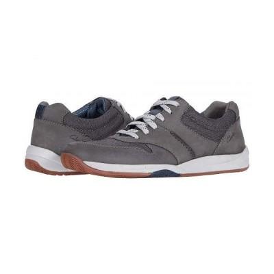 Clarks クラークス メンズ 男性用 シューズ 靴 スニーカー 運動靴 Langton Race - Grey Nubuck