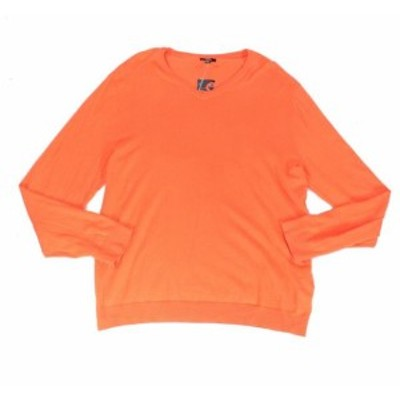 Alfani  ファッション トップス Alfani Mens Sweater Ginger Wrap Orange Size 2XL Pullover Knit V-Neck
