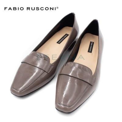 Fabio Rusconi ファビオルスコーニ 靴 スクエアトゥ ローファー パンプス レディース イタリア インポート 黒 グレー f4692