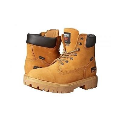 "Timberland PRO ティンバーランド メンズ 男性用 シューズ 靴 ブーツ ワークブーツ Direct Attach 6"" Soft Toe - Wheat Nubuck Leather"