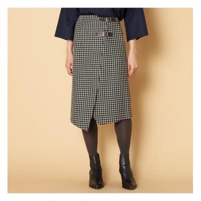 【エリオポール/HELIOPOLE】 HELIOPOLE ツイードミニベルトスカート