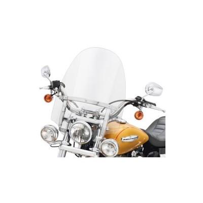 【57716-01】 デタッチャブル・コンパクト・ウインドシールド 補助ライト装着車用 ハーレー純正