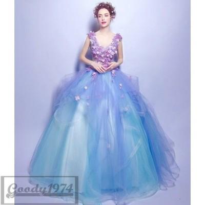 ウェディングドレス 花嫁ドレス パーティー 結婚式 エンパイア 演奏会 発表会 ワンピース 大きいサイズ チュール フォーマル