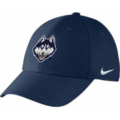 ナイキ メンズ 帽子 アクセサリー Nike Men's UConn Huskies Blue Swoosh Flex Hat