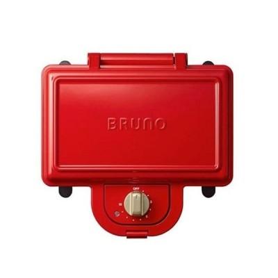 BRUNO ブルーノ ホットサンドメーカー 耳まで焼ける 電気 ダブル レッド BOE044-RD