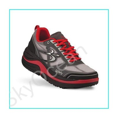 Gravity Defyer Men's G-Defy Ion Pain Relief Gray Red Walking Shoes Good for Plantar Fasciitis and Heel Pain【並行輸入品】