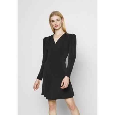 ヴィラ ワンピース レディース トップス VIELBAS DRESS - Jersey dress - black