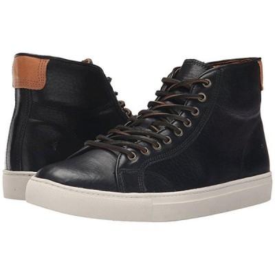 フライ Walker Midlace メンズ スニーカー 靴 シューズ Black Tumbled Full Grain