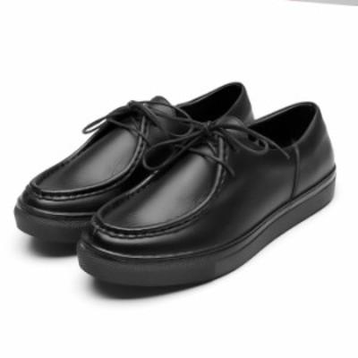 送料無料 ビジネスシューズ メンズ モカシンスニーカー 撥水 幅広 3E 革靴 H.O.WALK【DA501】