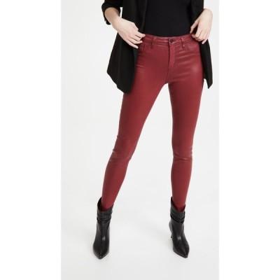 ラジャンス L'AGENCE レディース ジーンズ・デニム ボトムス・パンツ Marguerite High Rise Coated Skinny Jeans Deep Ruby Cont Coated