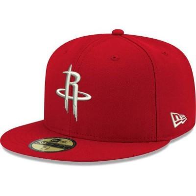 ニューエラ メンズ 帽子 アクセサリー New Era Men's Houston Rockets 59Fifty Red Fitted Hat