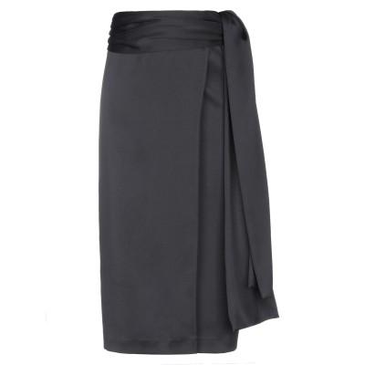 BROGNANO 7分丈スカート ブラック 38 ポリエステル 100% 7分丈スカート