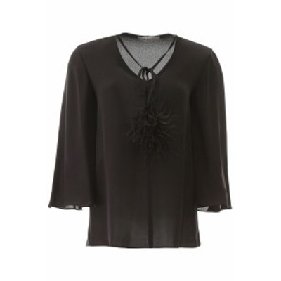 VALENTINO/バレンチノ Tシャツ NERO Valentino shirt with pom pom レディース 春夏2020 TB0AE03D1MH ik