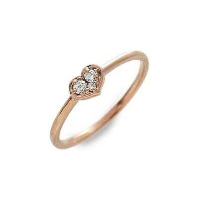 ピンクゴールド リング 指輪 ダイヤモンド ハート 彼女 記念日 ギフトラッピング ジュレドゥ 誕生日 送料無料 レディース