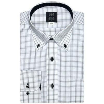 シャツ ブラウス 形態安定ノーアイロン ボタンダウン 長袖ビジネスワイシャツ