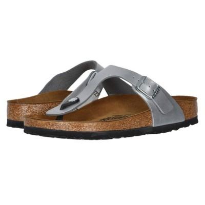 ビルケンシュトック Birkenstock レディース サンダル・ミュール シューズ・靴 Gizeh Birko-Flor(TM) Metallic Silver Birko Flor(TM)