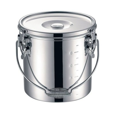 IH対応 給食道具 / KO 19-0 電磁調理器対応 スタッキング給食缶 21cm 寸法: 深さ:210mm底径:190mm 7L