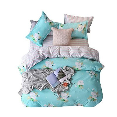 BeddingWish 布団カバーセット セミダブル4点セット 掛け布団カバーセット ボックスシーツ 枕カバー 寝具カバーセット 洋式 四季を通じて
