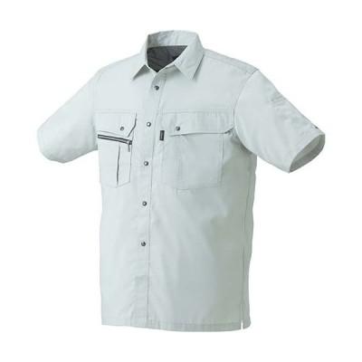 クロダルマ(KURODARUMA) 半袖シャツ シルバーグレー 26493 作業着 作業服 作業シャツ 春夏用 メンズ レディース