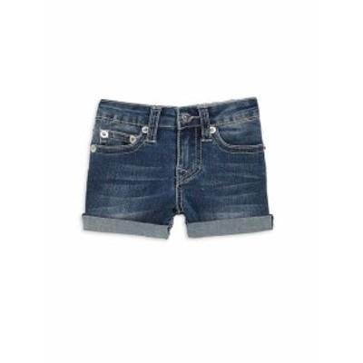 トゥルー リリジョン キッズ ガールズ パンツ Little Girls Boyfriend Denim Shorts