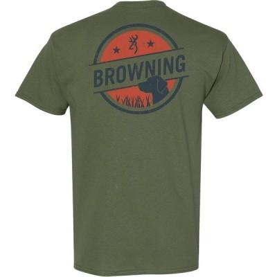 ブロウニング Tシャツ メンズ Green Dark 01