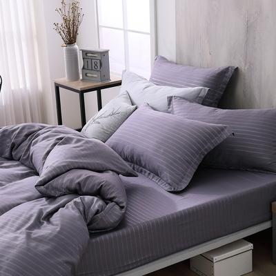 OLIVIA  Mars 灰紫 標準雙人床包歐式枕套三件組  300織銀纖維天絲萊賽爾 台灣製