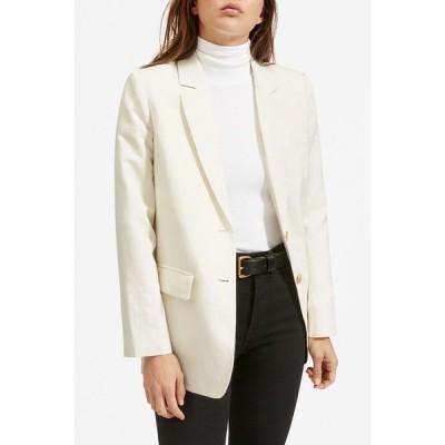 エバーレーン レディース ジャケット&ブルゾン アウター The Cotton Linen Blazer BONE