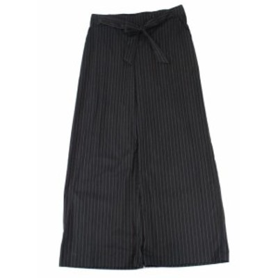 kensie ケンジー ファッション パンツ Kensie Womens Black Size Large L Pinstriped Belted Dress Pants Stretch #593
