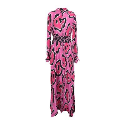 ジャストカヴァリ JUST CAVALLI ロングワンピース&ドレス フューシャ 38 レーヨン 81% / シルク 19% ロングワンピース&ドレス