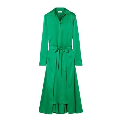ロゼッタ・ゲッティ ROSETTA GETTY ロングワンピース&ドレス グリーン 2 アセテート 82% / レーヨン 18% ロングワンピース&