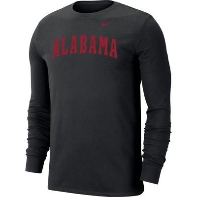 ナイキ Nike メンズ 長袖Tシャツ ドライフィット トップス Alabama Crimson Tide Dri-FIT Long Sleeve Black T-Shirt