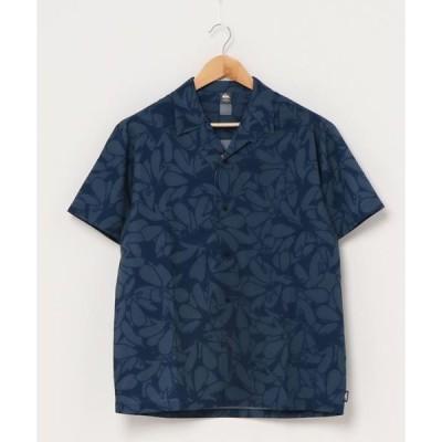 シャツ ブラウス FLORAL LAKE/クイックシルバー シャツ 半袖 開襟 オープンカラー