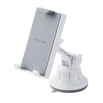 エレコム 車載タブレット対応スタンド ゲル吸盤 ホワイト P-CARTB01WH(1コ入)[その他]