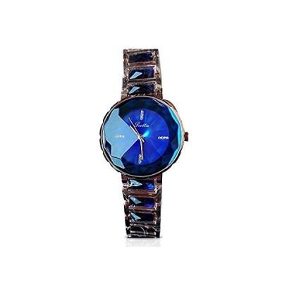 【新品】RORIOS ファッションガールズ/レディースウォッチ アナログクォーツ ステンレススチールバンド ブレスレット 腕時計 防水 ブルー