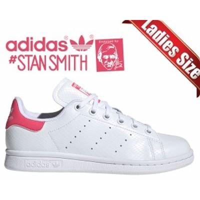 【アディダス スタンスミス レディース】adidas STAN SMITH J FTWWT/FTWWT/REAPNK ee7573 スニーカー ウィメンズ ホワイト ガールズ スネ