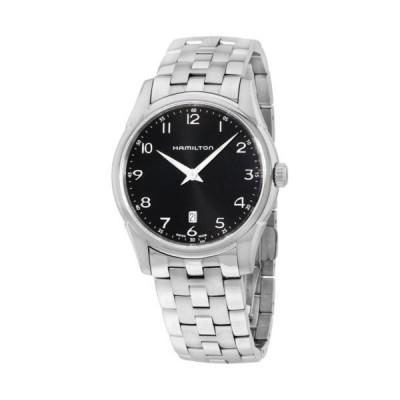 腕時計 ハミルトン Hamilton Jazzmaster Thinline Black Dial Stainless Steel Men's Watch H38511133